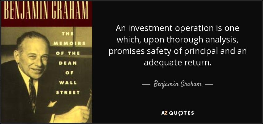Ben Graham on Investing