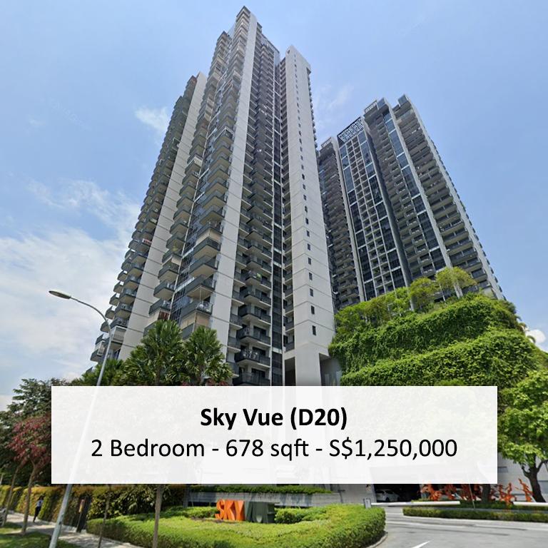 Sky Vue 2 Bedroom for Sale