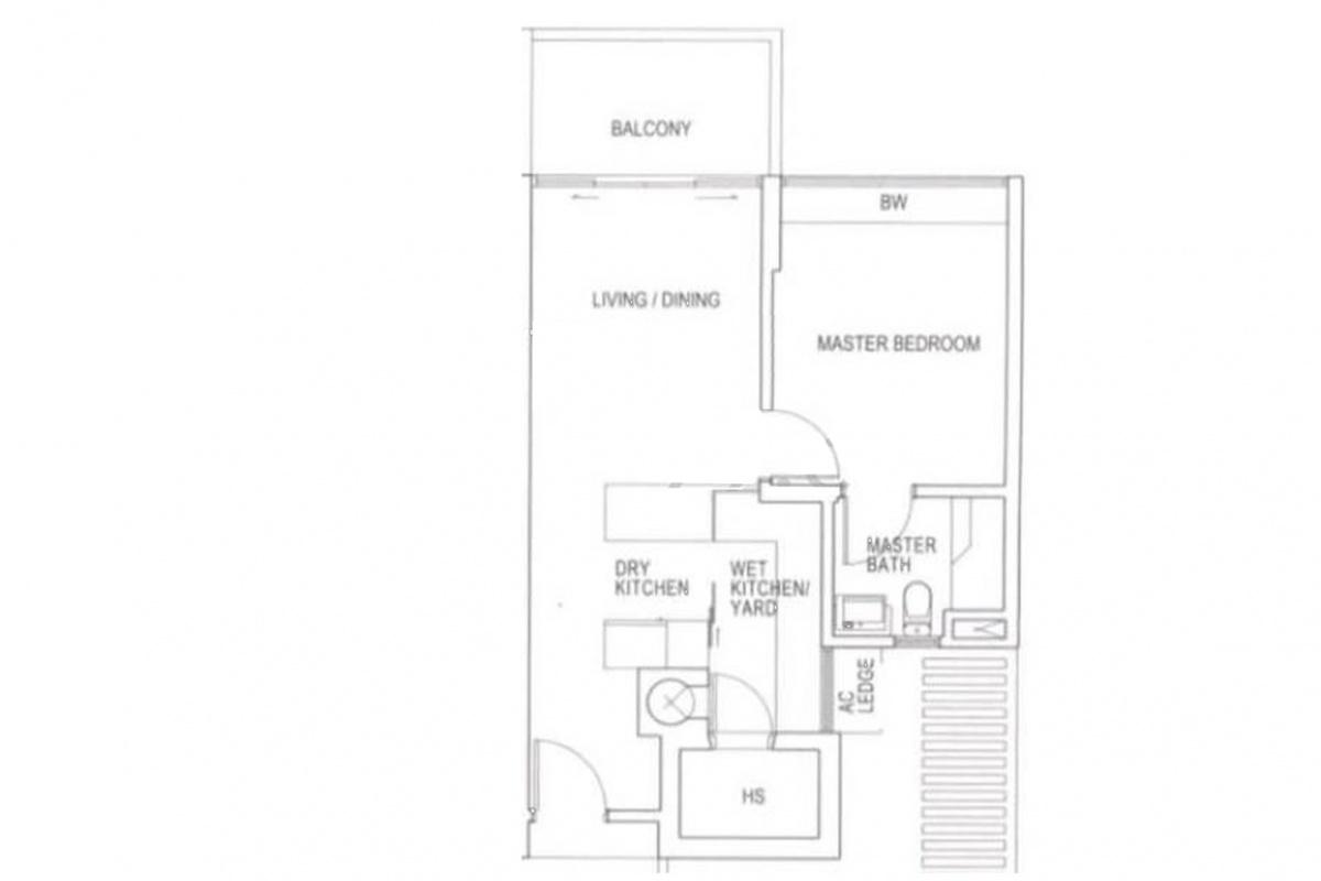 738 Bedok Reservoir Road, 479265, 1 Bedroom Bedrooms, ,1 BathroomBathrooms,Condominium,For Rent,Bedok Reservoir Road,1020